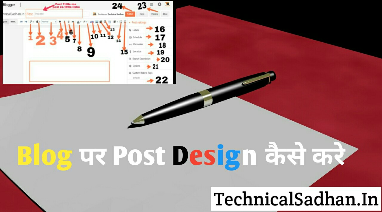 Blog Par New Post Design Kaise Kare