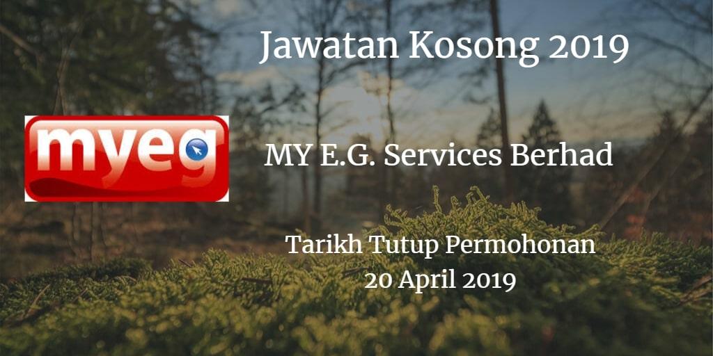 Jawatan Kosong MY E.G. Services Berhad 20 April 2019