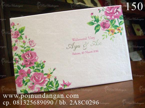 undangan pernikahan blocknote hard cover semarang