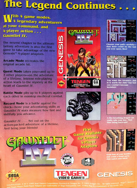 Gauntlet IV printed advertisement