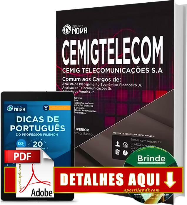 Apostila CEMIG TELECOM 2016 Analista Impressa