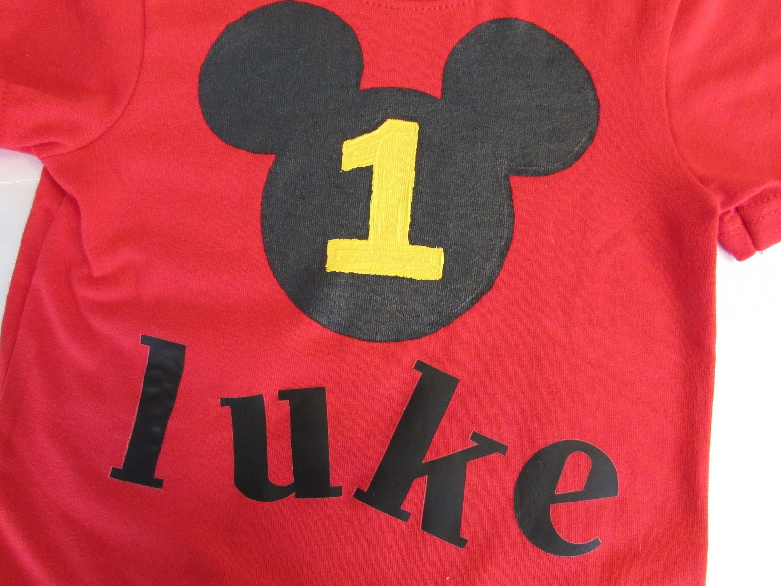 DIY Mickey Mouse 1st Birthday Shirt