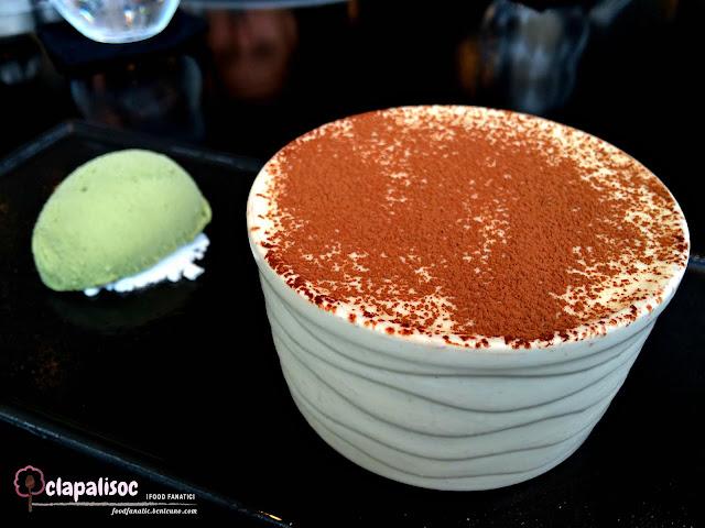 Tiramisu with Pistachio gelato