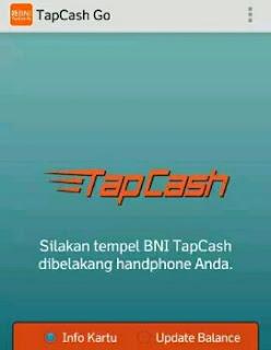 Cara update balace TapCash dengan aplikasi TapCash Go