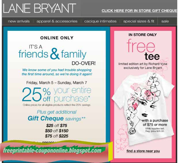 lane bryant coupons in store use