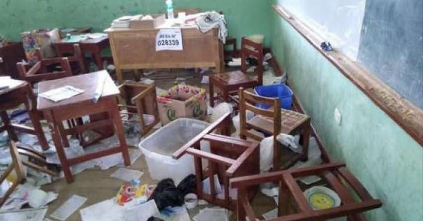 Colegios destruidos no volverán a ser locales de votación, informó GRE La Libertad