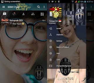 BBM Change Background With Juventus v3.0.1.25 MOD APK
