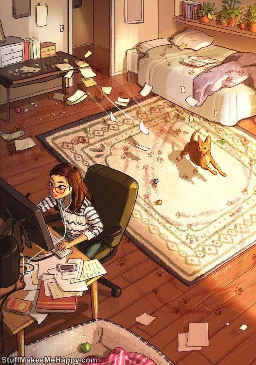 Drawings, Dog Drawings, Female Drawings