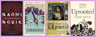 portadas del libro Un cuento oscuro, de Naomi Novik