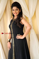 Kannada Actress Divya Uruduga Pos in Black Long Dress at Huliraaya Movie Audio Release Event  0005.jpg