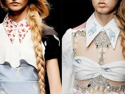 Como hacer un Collar-Cuello Camisa Miu Miu