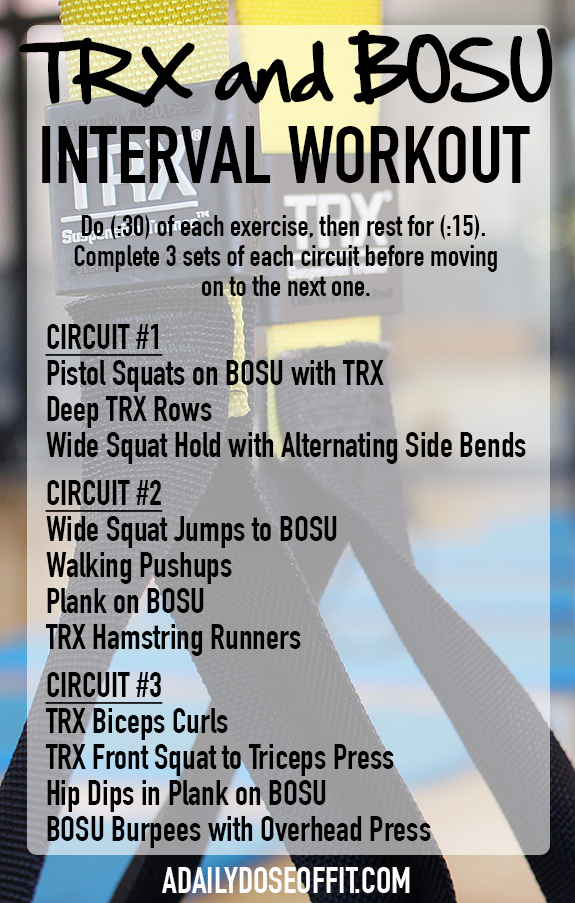A Daily Dose Of Fit Trx And Bosu Interval Workout