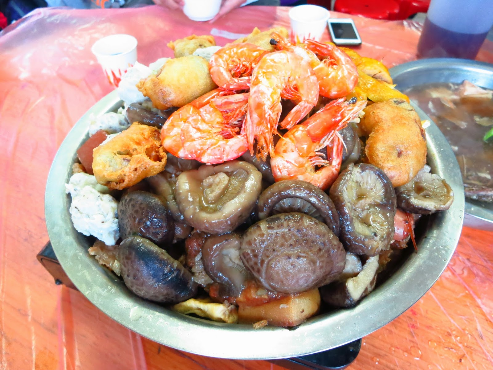 jj......life of an ordinary: 屏山傳統盆菜@元朗 - 臨時盆菜