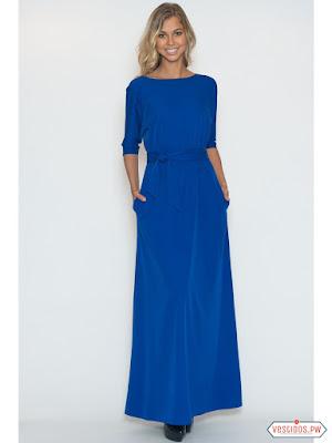 Vestido azul de moda