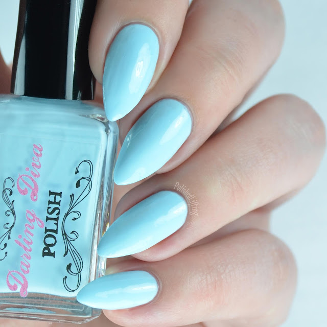 pastel blue nail polish