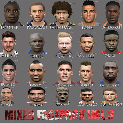 PES 2016 MixED Face Pack Vol. 3 by ManiaC Army FaceMaker