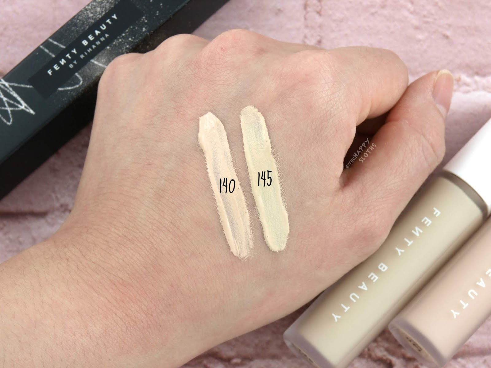 "Fenty Beauty by Rihanna | Pro Filt'r Instant Retouch Concealer in ""140"" & ""145"": Review and Swatches"