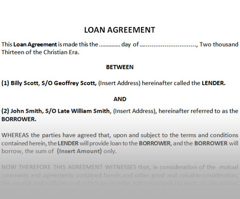 Doc816518 Financial Loan Agreement Template Doc816518 – Financial Loan Agreement Template