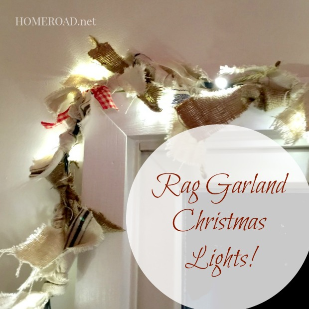 Rag Garland Christmas Lights www.homeroad.net