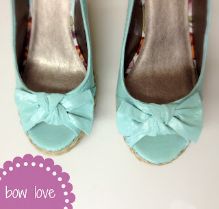 bow sandals makeover