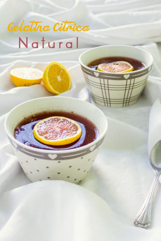 Gelatina natural de fruta