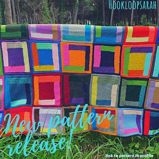 crochet pattern log cabin blanket