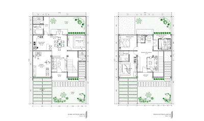 Gambar Denah Lantai 1 dan Lantai 2