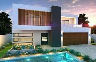 rumah mewah minimalis modern 2 lantai eropa