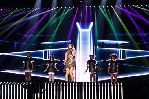 Barei realiza primer ensayo en el escenario de Eurovisión -2