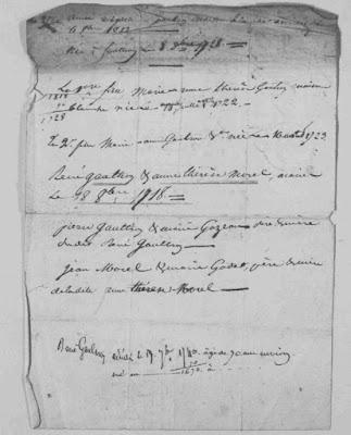 1844, les familles GAUTRON et le généalogiste