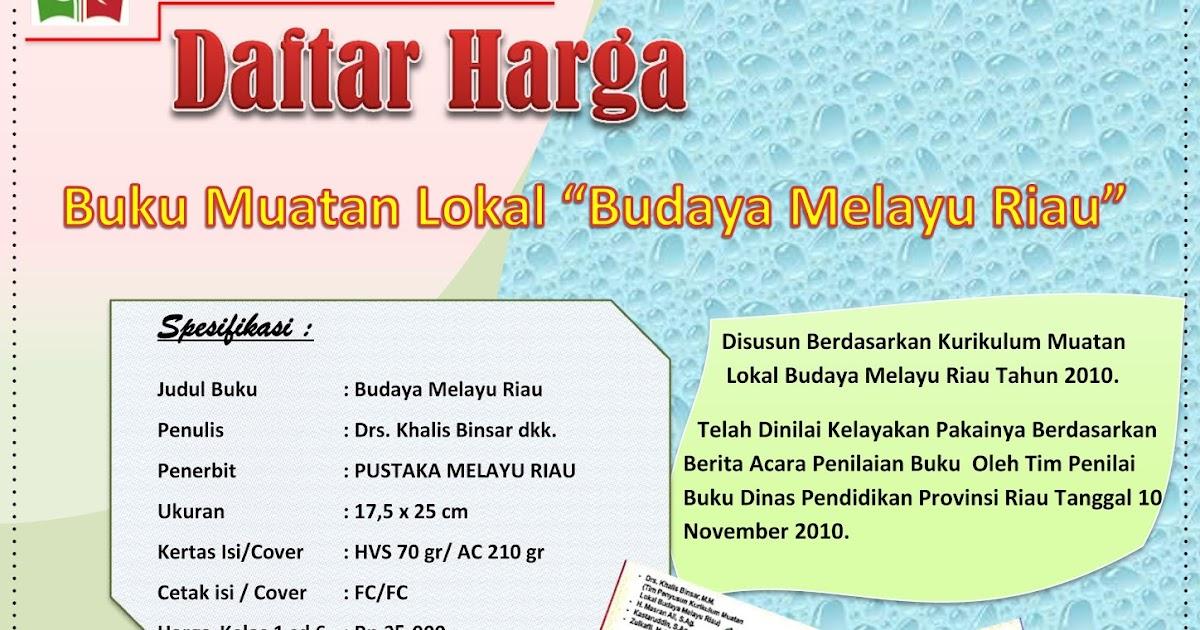 Buku Budaya Melayu Riau Kelas 7 - Revisi Sekolah