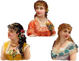 women fashion victorian antique clipart download digital images