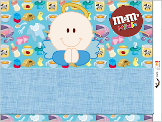 Angel Boy Free Printable M&M Candy Bar Labels.