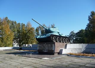 Межова. Військовий меморіал. Танк Т-34-85