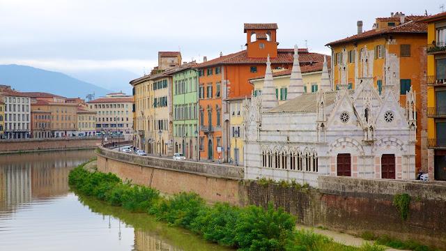 Viagem de trem de Pisa a Milão