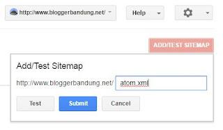 Daftarkan Sitemap Blog Baru