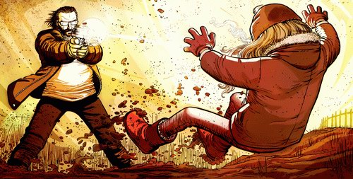 Big Daddy blast the hell of Hit-Girl