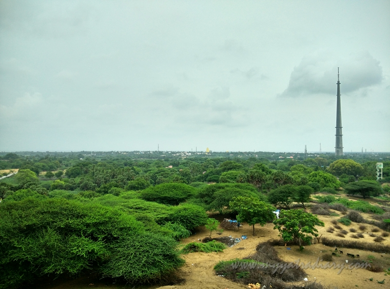Doordarshan Tower  from Gandamadana Hill, Rameshwaram