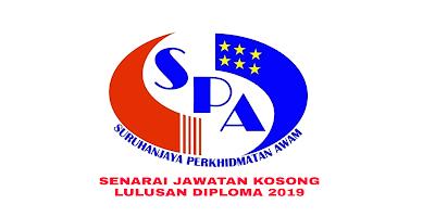 Senarai Jawatan Kosong Kerajaan Lulusan Diploma 2019