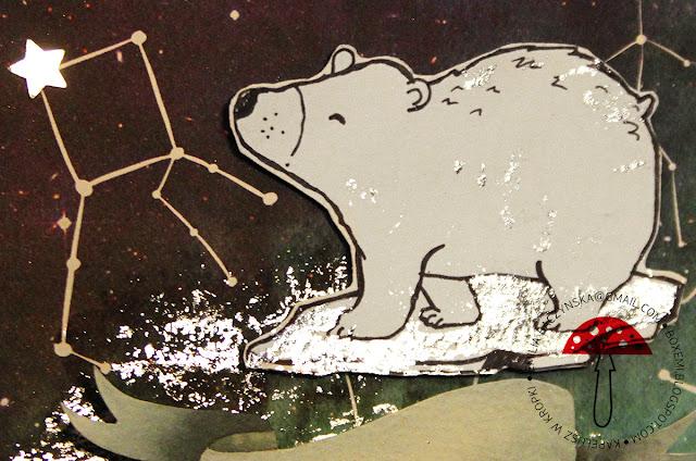 Biały miś arktyczny – kartka