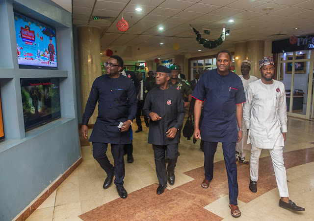 Image result for VP Osinbajo goes to see 'Chief daddy'