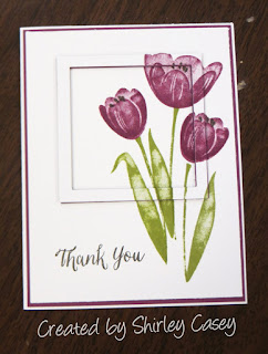Stampin' Up! Tranquil Tulips Eclipse Card by Shirley Casey