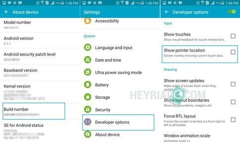 Layar HP Android Bergaris Warna Warni