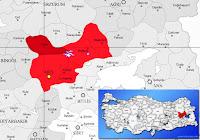 Varto ilçesinin nerede olduğunu gösteren harita