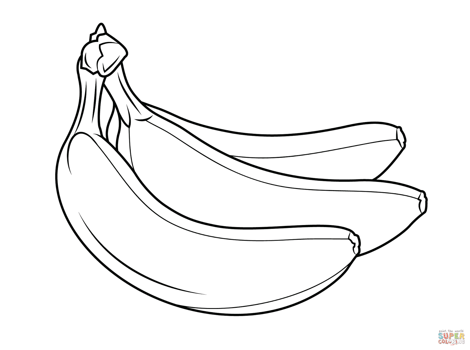 banana color page banana coloring page