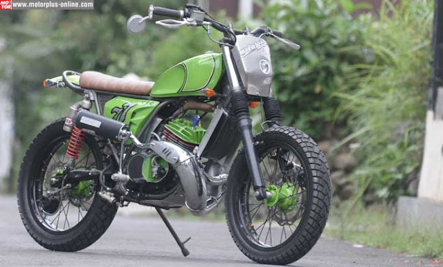 Modifikasi Yamaha RX King Gaya Street Tracker