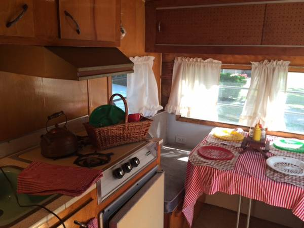 1965 Frolic Ham Style Camper With Charming Interior  RV