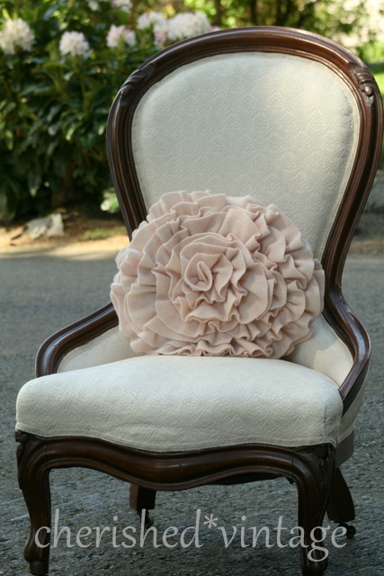 Cherished Vintage Parlor Chair Makeover Painted Upholstery