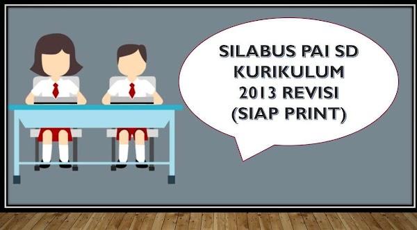 Silabus PAI SD/MI Kurikulum 2013 Revisi Lengkap Literasi, PPK, 4C, HOTS