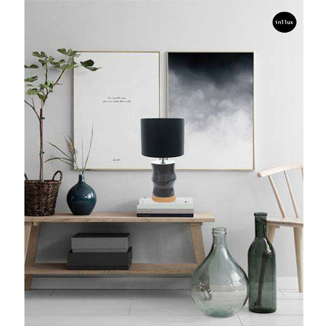 Keramiklamp in Schwarz